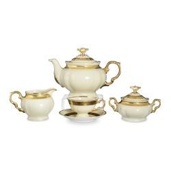 Чайный сервиз 17пр Мария Луиза золотая лента