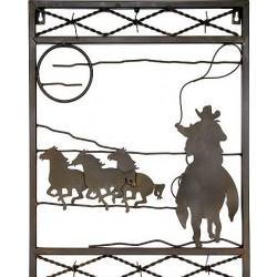 16450 Декоративное настенное панно (чёрный металл)