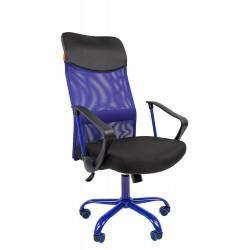 Кресло офисное Chairman черный + синий