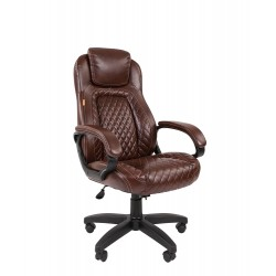 Кресло офисное Chairman экопремиум коричн