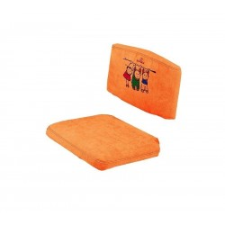 Чехол на стул (замша) оранжевый