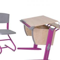 Набор меб : стол,стул,2 полки клен/оранж
