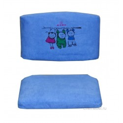 Чехол на стул (замша) синий