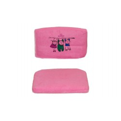 Чехол на стул (замша) розовый