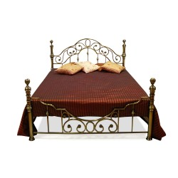 Кровать металлическая 160*200 антич. медь