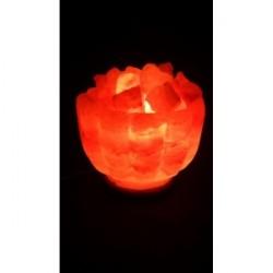 Декор- обработ. соляная лампа Ваза с камнями с диммером