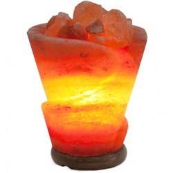 Декор- обработ. соляная лампа Роза