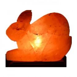 Декор- обработанная соляная лампа Кролик