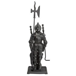 Набор для камина 3 предмета на подставке Рыцарь