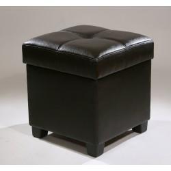 Банкетка (черная/иск.кожа)