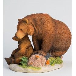 """Статуэтка """"Бурый медведь с детенышем """""""