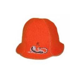 "Шляпа ""Кокетка"" оранж. ""Тигрица"""