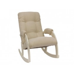 Кресло-качалка мод. 67  (Дуб шампань, ткань Verona Vanilla)