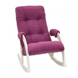 Кресло-качалка мод. 67  (Дуб шампань, ткань Verona Cyklam)