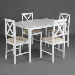 Комплект Хадсон (стол + 4 стула) дерево гевея