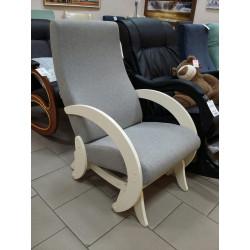 Кресло-качалка мод. 68М (Дуб шампань, ткань Серая)